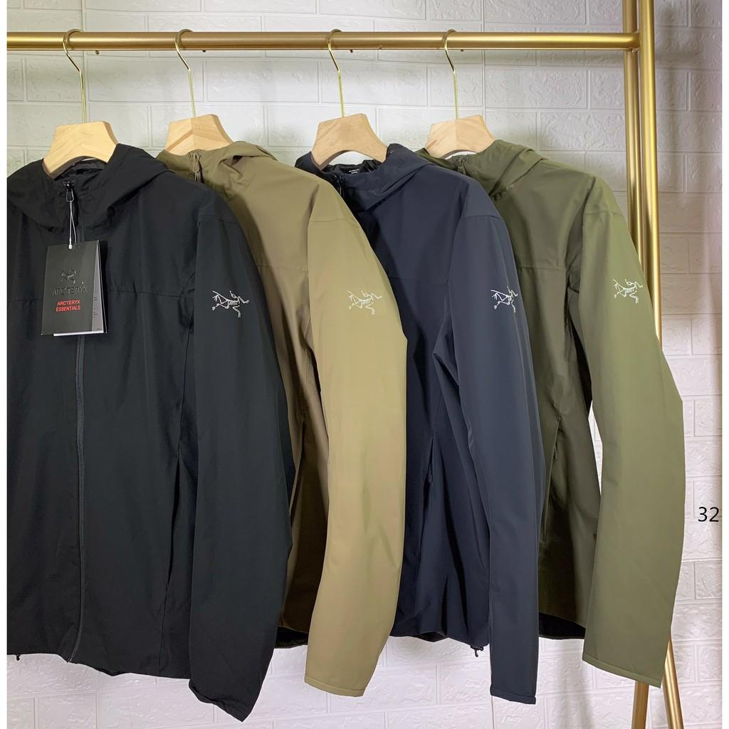 ARC'TERYX始祖鳥 20新款Solano Jacket戶外防風防水保暖夾克外套 輕量軟殼夾克 經典連帽外套男 代購
