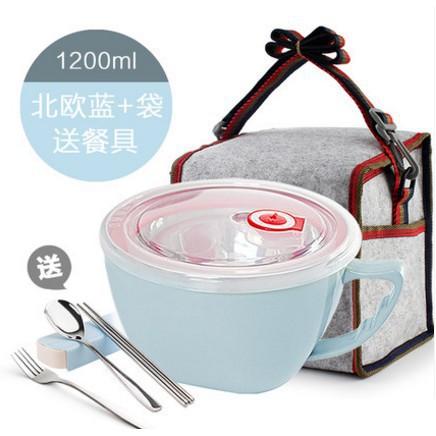 【熱銷】304不銹鋼泡面碗杯創意家用帶蓋米飯碗日式湯碗大碗泡面杯餐具#【鶴雲百貨】