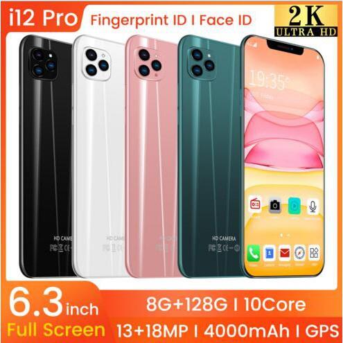 低價促銷 蘋果款 i12 pro 6.3寸智慧手機 8G+128G 八核  安卓9.1系統 4G智能手機 #13551