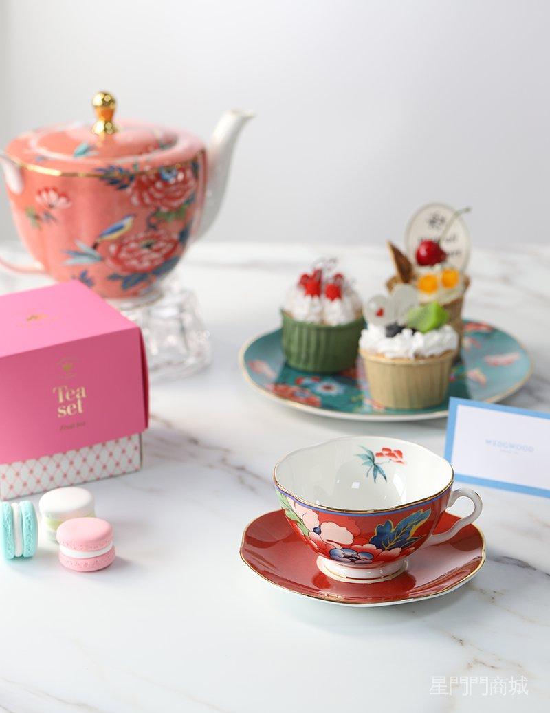 人氣新品現貨英國Wedgwood Paeonia Blush嫣紅牡丹骨瓷下午茶咖啡杯碟杯子
