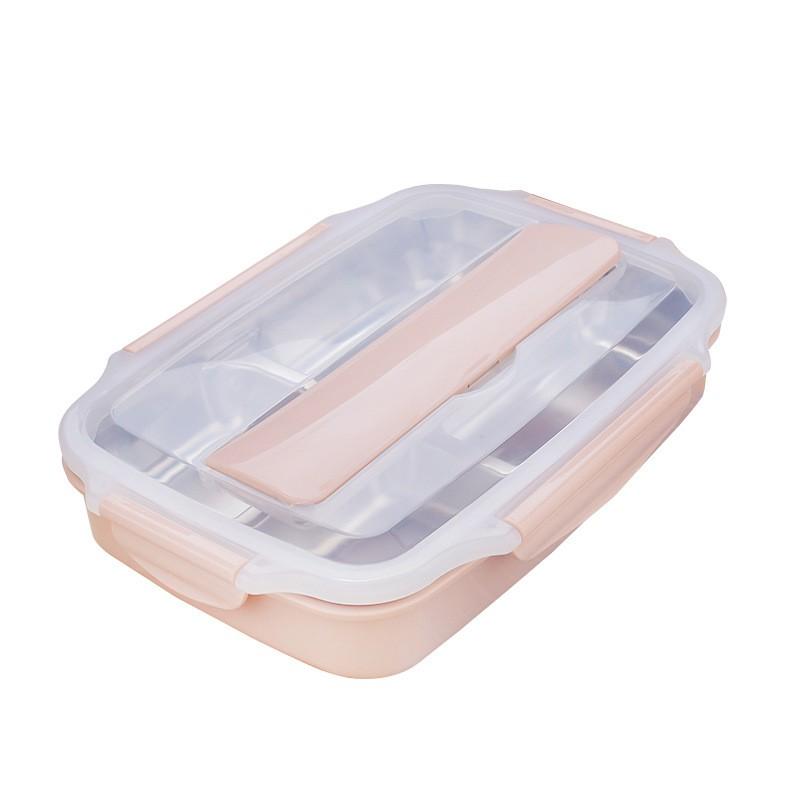 【蝦皮團購】304不銹鋼密封保溫餐盒便當盒(附餐具)