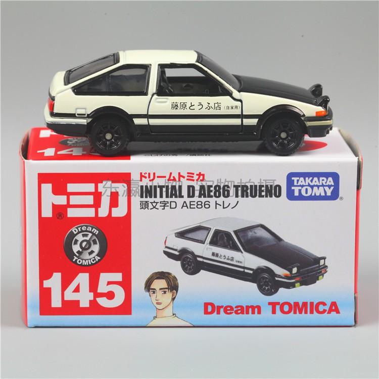 樂麥專場♨TOMY多美卡TOMICA145頭文字D藤原拓海豐田AE86 GTR RX7合金車玩具