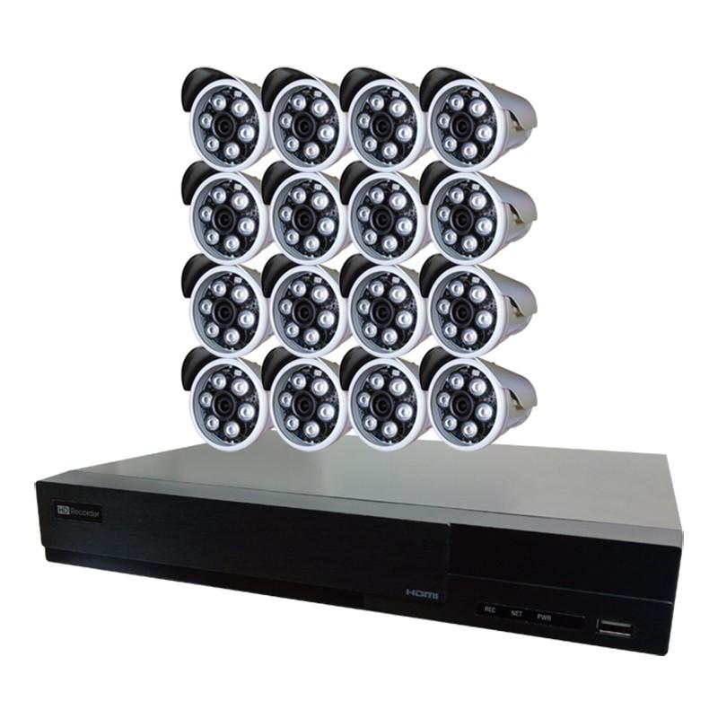 【4P四保】16路16鏡多合一1080P數位遠端監控DIY套組-含200萬畫素槍型監控鏡頭87GH