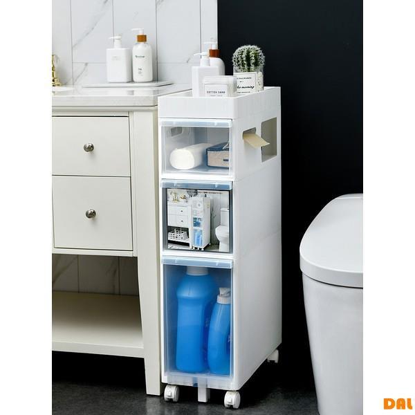 【浴室夾縫收納柜】品質家居 洗浴用品收納架 多層立體大容量 22CM浴室夾縫置物架衛生間收納柜廁所窄縫儲物柜落地多