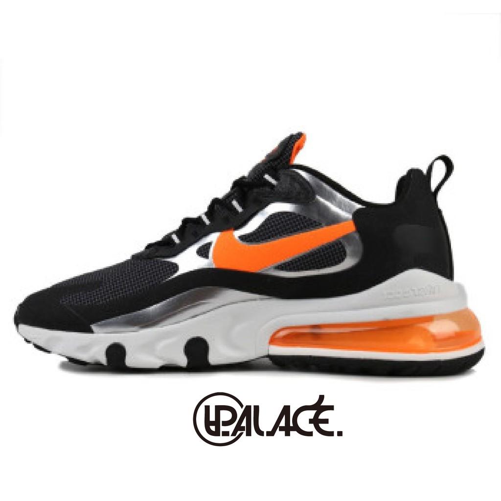 【NIKE】AIR MAX 270 REACT 黑橘 男鞋 氣墊 避震 休閒鞋 CQ4598084