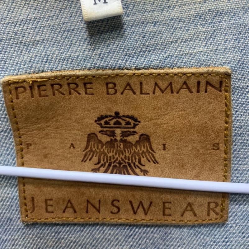 Pierre Balmain 經典 牛仔外套 (巴黎鐵塔 )M
