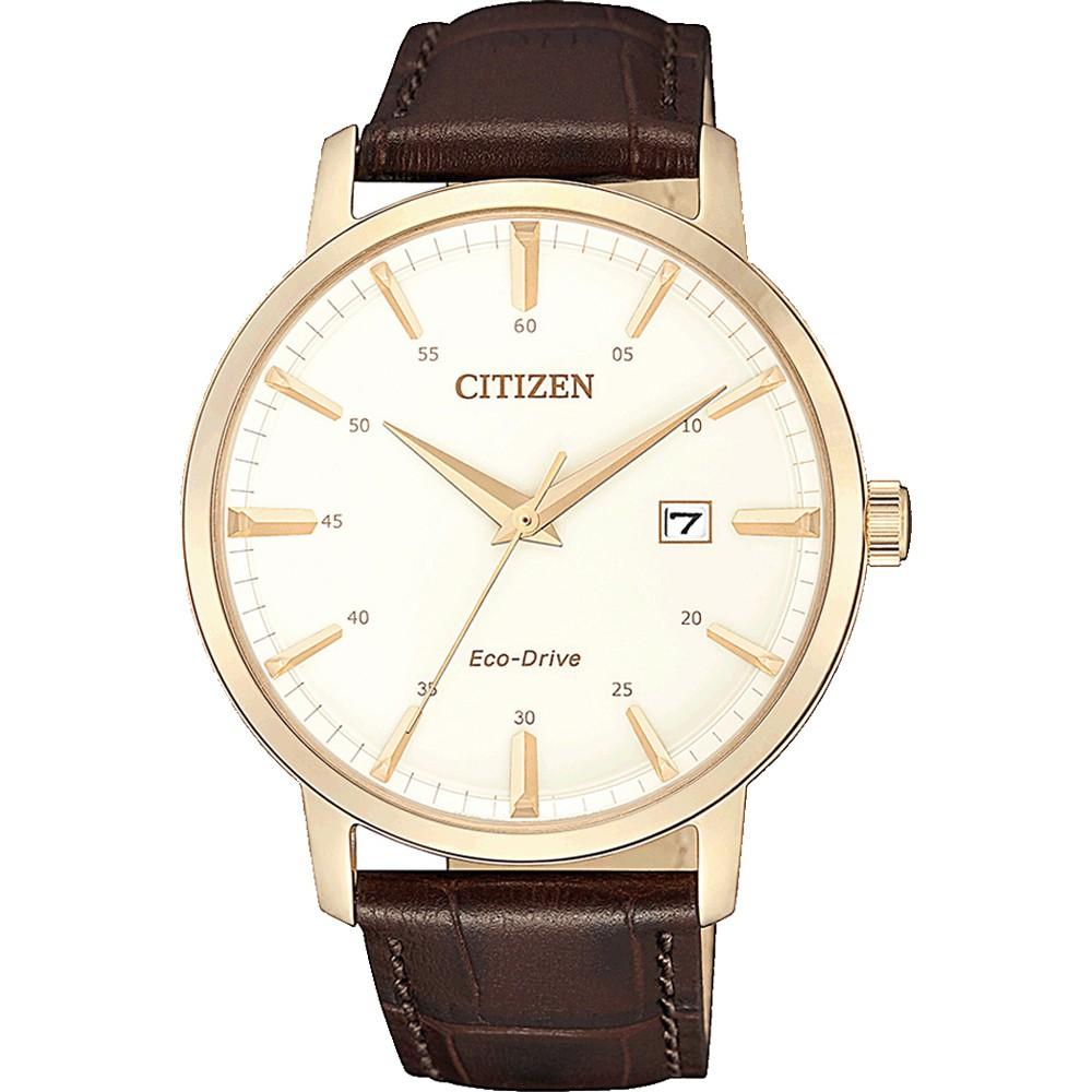 CITIZEN 星辰 光動能簡約大三針手錶(BM7463-12A)