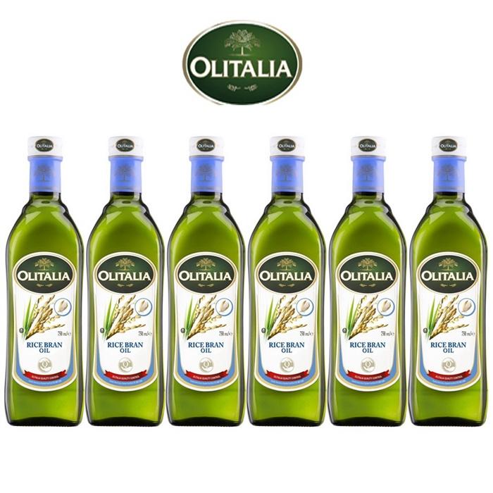 Olitalia奧利塔玄米油禮盒組(750mlx6瓶)