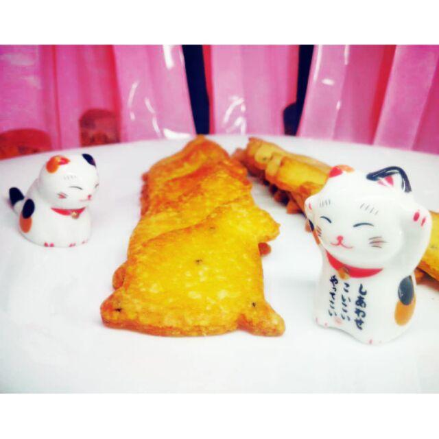 手工貓咪造型奶油餅乾(黑芝麻風味)