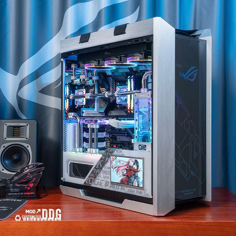 【台灣 現貨】華碩玩家國度ROG全家桶分體水冷電腦主機11900K 5950 RTX3080TI90