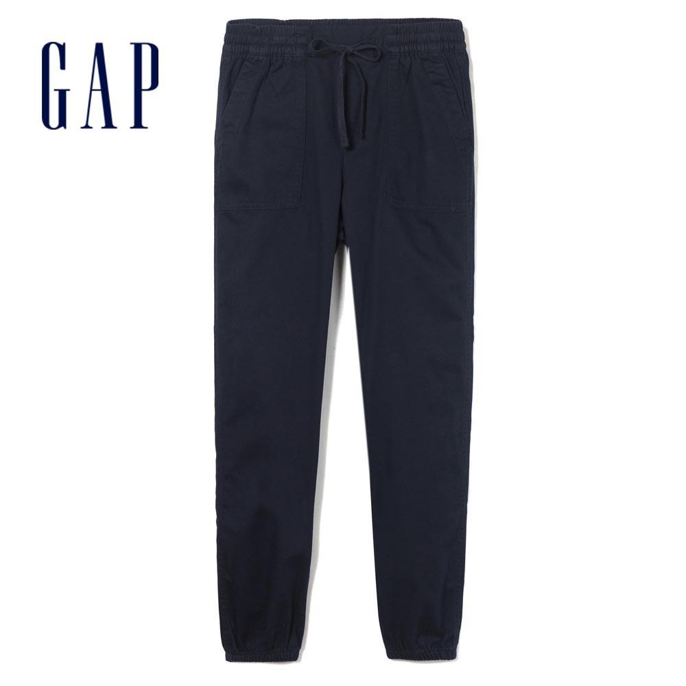 Gap 女裝 簡約風格鬆緊休閒褲 417893-海軍藍