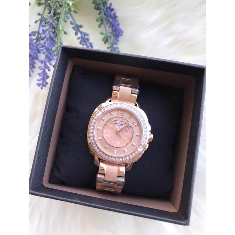 COACH 玫瑰金手錶 女用手錶 女款手錶 手錶