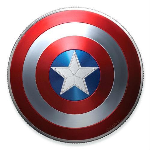 預購 - 2019斐濟-Marvel-美國隊長盾-10克銀幣