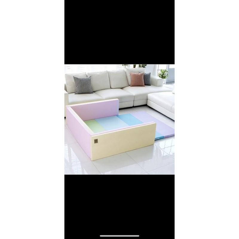 Caraz韓國寶寶遊戲城堡圍欄甜心彩虹