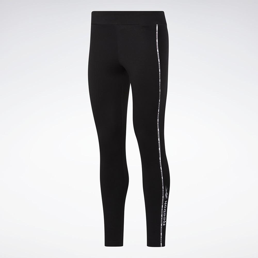 REEBOK CL F LINEAR LEGGING 女裝 長褲 緊身 訓練 慢跑 休閒 黑【運動世界】GJ4926