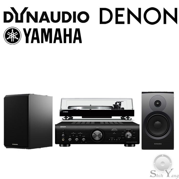 DENON PMA-800NE+Dynaudio New EMIT 20 書架喇叭+YAMAHA TT-N503黑膠唱盤