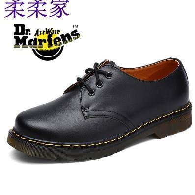 1461男女英倫風春季單鞋馬丁低幫靴Dr3孔真皮學院風小皮鞋情侶鞋
