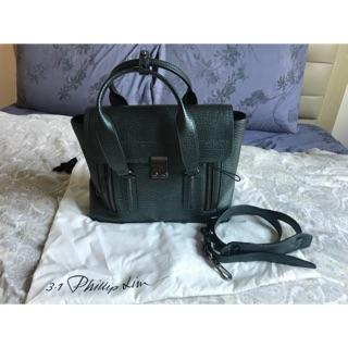 「可議價」3.1 phillip lim pashli medium satchel 中款牛皮金屬綠 新北市