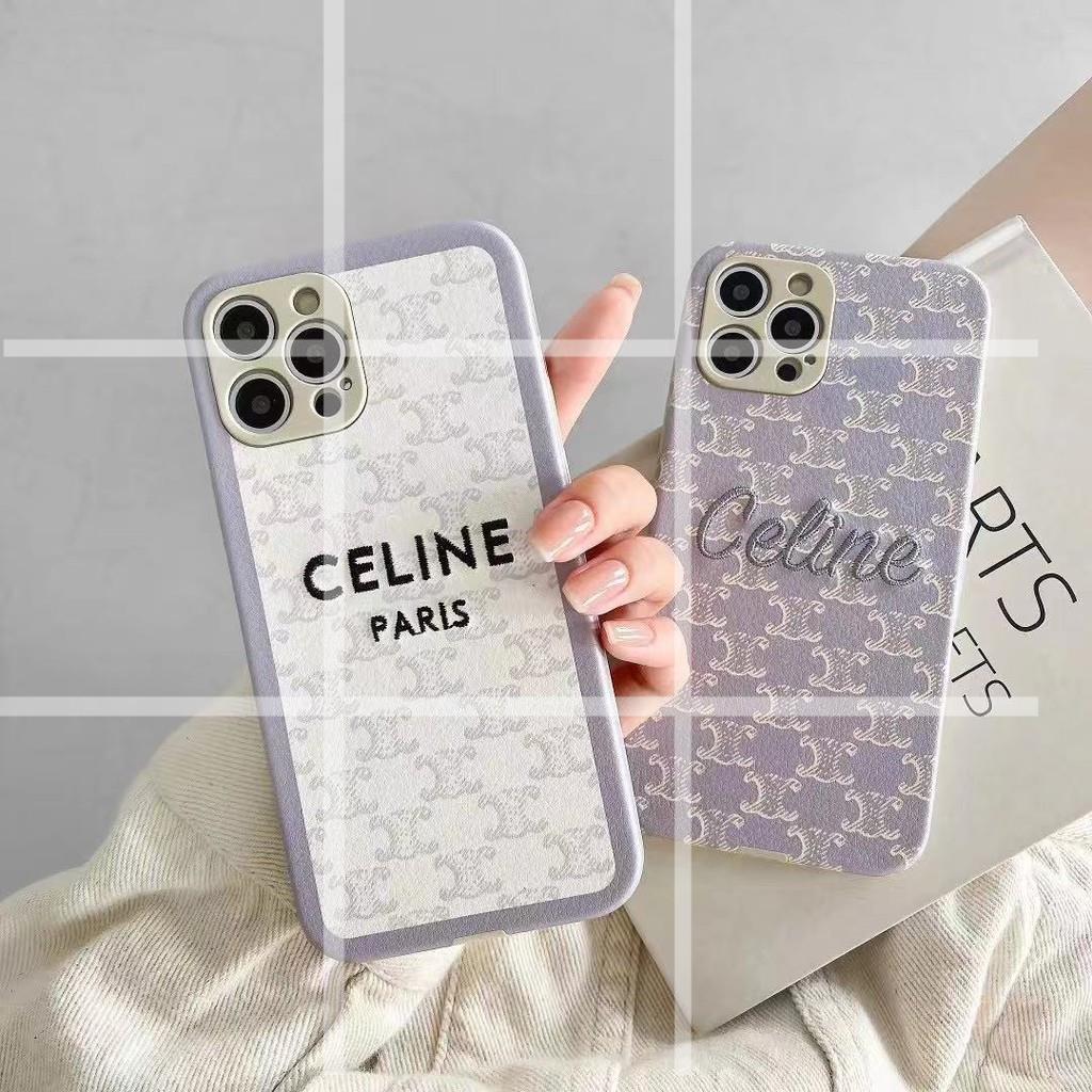 淡雅紫 簡約 文青 CELINE 賽琳 12pro手機殼 適用iPhone11 Xs Max i7 XR 蘋果11手機殼