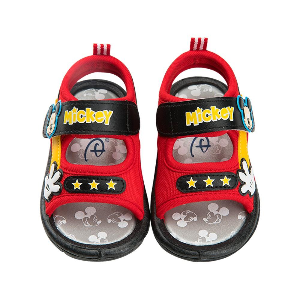 迪士尼童鞋 米奇 街頭感啾啾涼鞋-紅