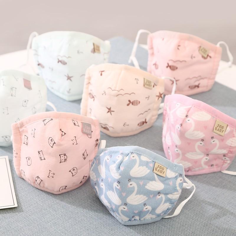 0-1-3歲男寶寶口罩純棉春夏季薄款紗布卡通女兒童防風透氣2嬰兒秋