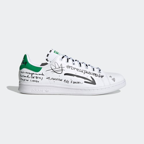 【小八】Adidas Stan Smith White 白綠 塗鴉 GV9800