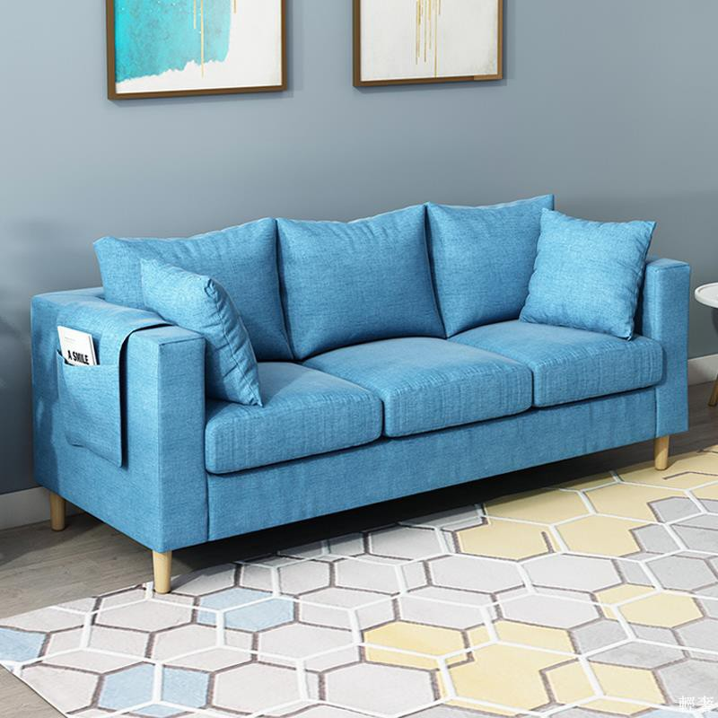 【現貨】現貨 臥室小沙發小型客廳網吧租房服裝店單人沙發椅雙人布藝小戶型沙發
