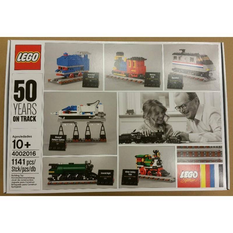 公主樂糕殿 LEGO 樂高 絕版 2016年 4002016 樂高50周年經典列車 壓盒復原