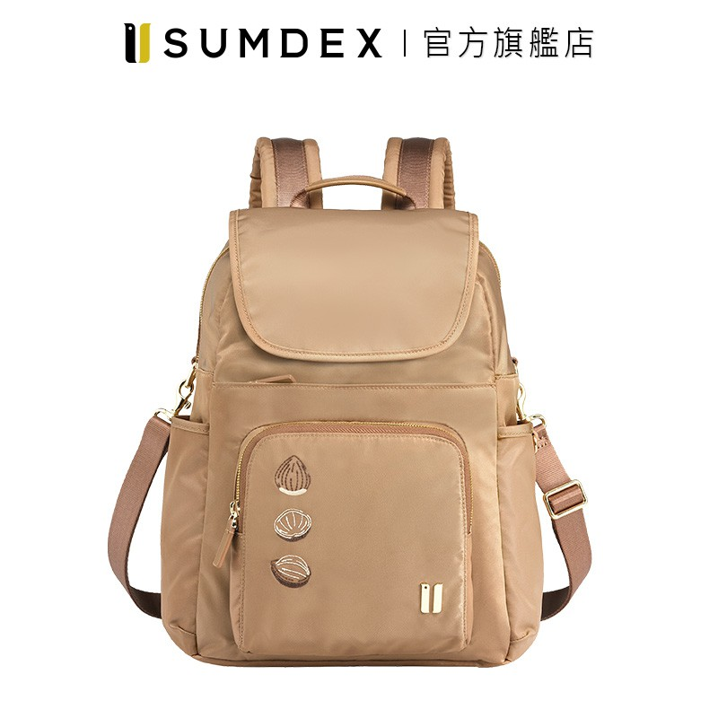 Sumdex 都會三用後背包 (真果版) NOD-765TN-HN 褐色 官方旗艦店