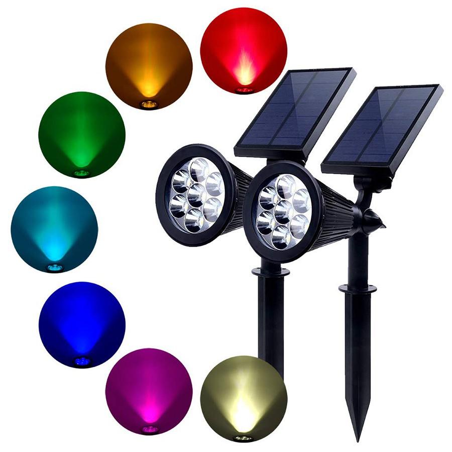LED太陽能燈可充電戶外花園景觀太陽能燈射燈