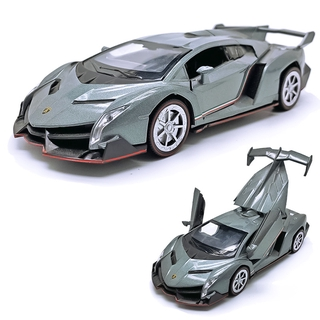 新品上市1:32 Red Lamborghini Poison Alloy&Plastic Toy Car Model