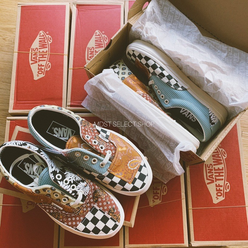【MDST】🇰🇷 VANS TIGER PATCHWORK SLIP/ERA 懶人鞋 滑板鞋 變形蟲 拼接 韓國限購