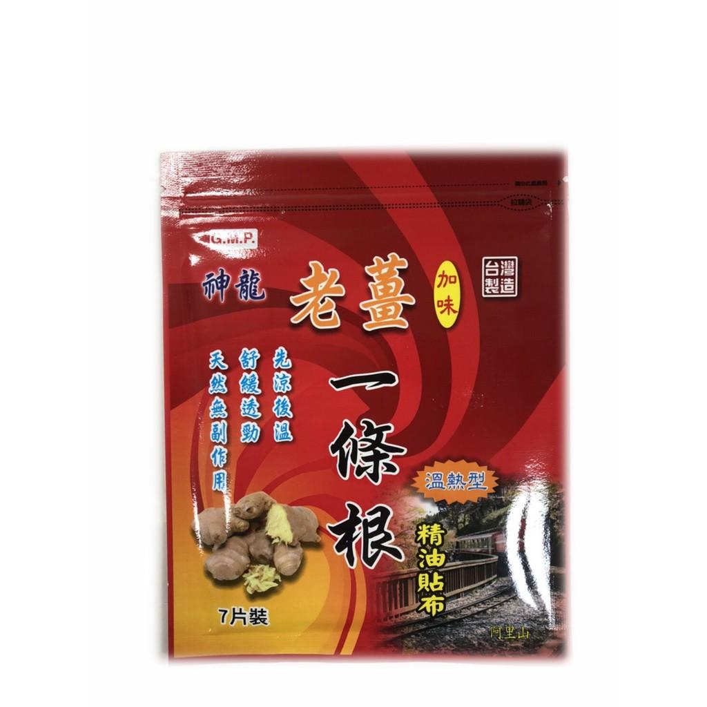 神龍 老薑加味一條根精油貼布 7片裝 溫熱型