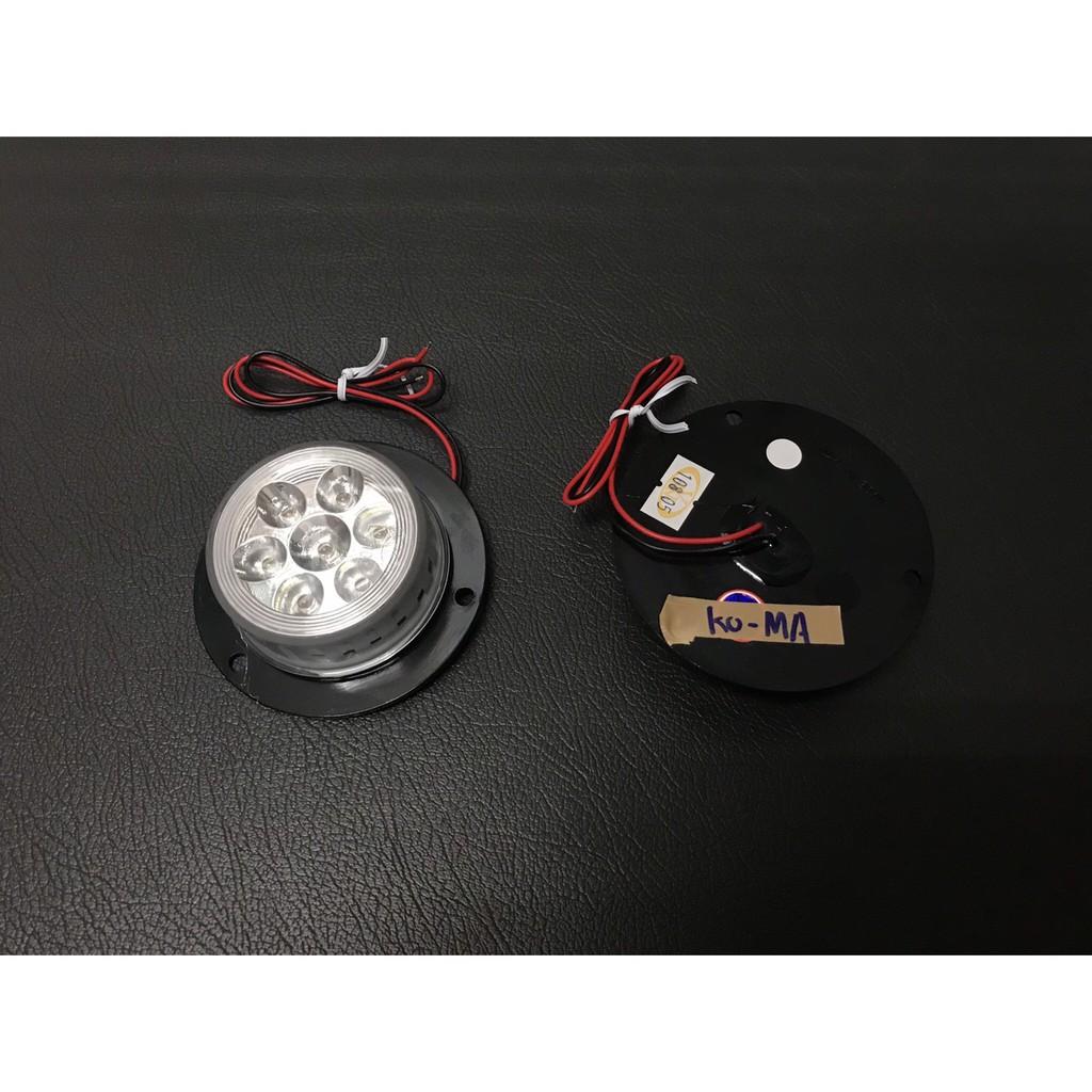 Ko Ma 24V小圓LED角燈白光 邊燈 大燈 後燈 角燈 方向燈 屋頂燈 標識燈 遊覽車 巴士 公車 貨車 吊車