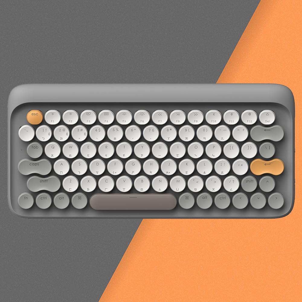 LOFREE 打字機鍵盤 全球限定注音版 (秋 / 灰)<現貨><免運>