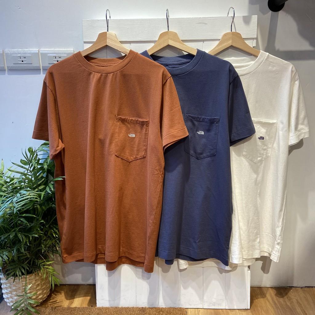 威基基小島 全新The north face紫標北臉素面厚磅短袖T恤(白、黑、藍、綠)