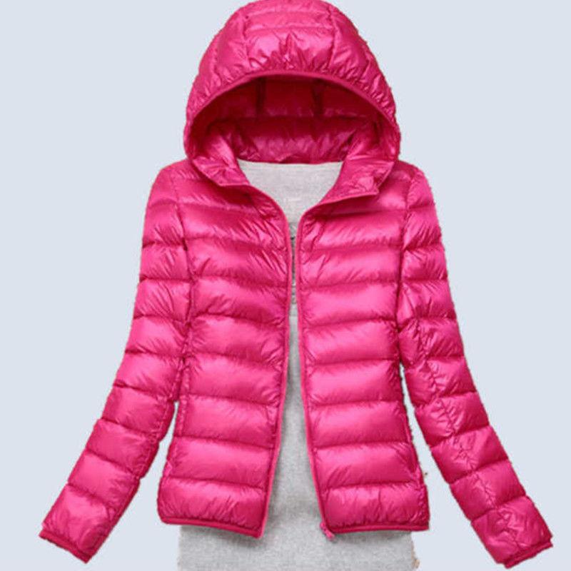 【品牌同款】輕薄羽絨服女大碼短款羽絨服女連帽立領超便攜式外套