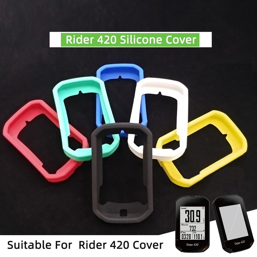 矽膠代碼保護套 Sportwatch 保護套, 帶有用於 Bryton Rider 320 420 的高清膠片