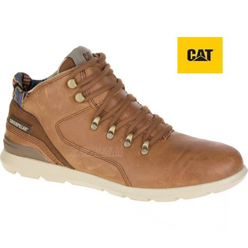 【CAT】時尚高筒休閒鞋(720481)-棕<男 >原價3950元