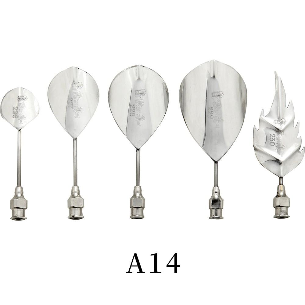 優果《越南進口不鏽鋼果凍花針A14》每組內含5支針