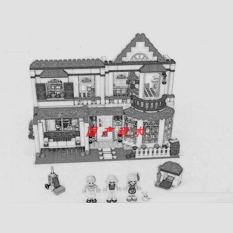 兼容樂高女孩好朋友系列斯蒂芬妮的房子41314拼裝積木玩具01014