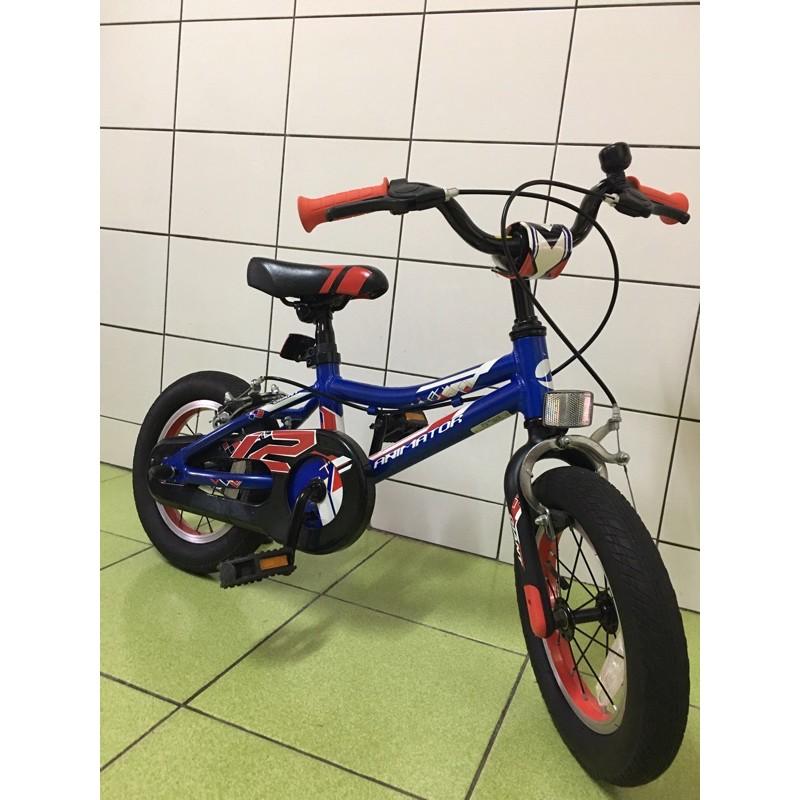 限定面交🎉《二手極品》Giant捷安特 animator 12吋 兒童腳踏車 鋁合金車架 輔助輪 藍 橘色 自行車 童車