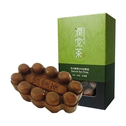 茶寶 潤覺茶 茶の酵素SPA按摩皂 100g【新高橋藥局】香皂 沐浴