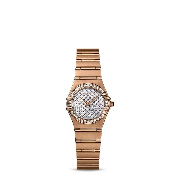 【幾近全新】Omega 歐米茄Constellation星座系列 女用玫瑰金鑽錶11567700