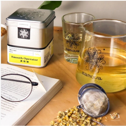 『亞杰國際』#防疫#增加身體防護力SAMOVA德國有機洋甘菊茶(調情師)馬口鐵50g