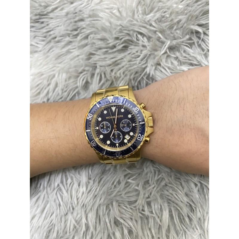 鹿晉歐美精品🦌 Michael Kors MK8267 藍金手錶/石英錶