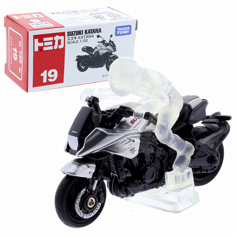 TOMY多美卡仿真車模型玩具合金迷你鈴木刀摩托車SUZUKI KATANA 19        那时玩具