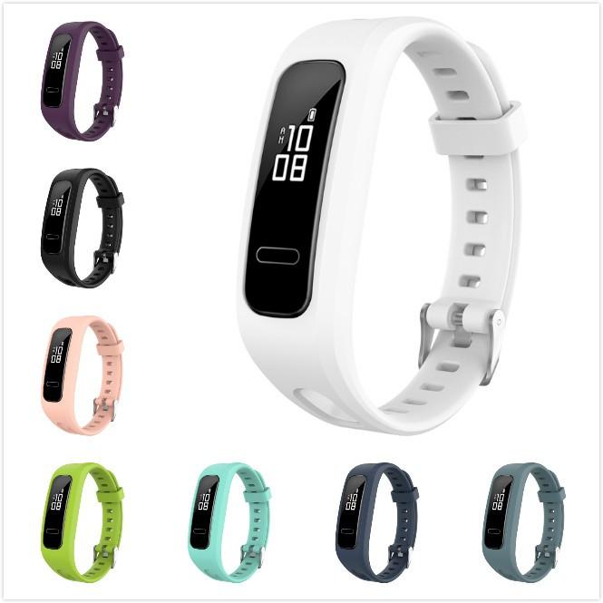 適用於 華為榮耀手環4 Running版 /手環band 3e 矽膠通用錶帶 替換運動腕帶
