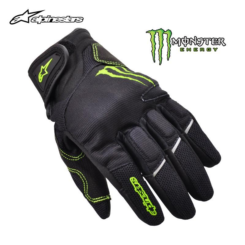 【高品質】、意大利A星alpinestars摩托車手套夏季鬼爪monster觸屏透氣RAID