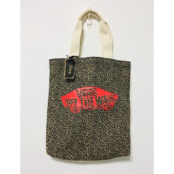 VANS 托特包 帆布包 帆布袋 書包 購物包 手提袋 豹紋